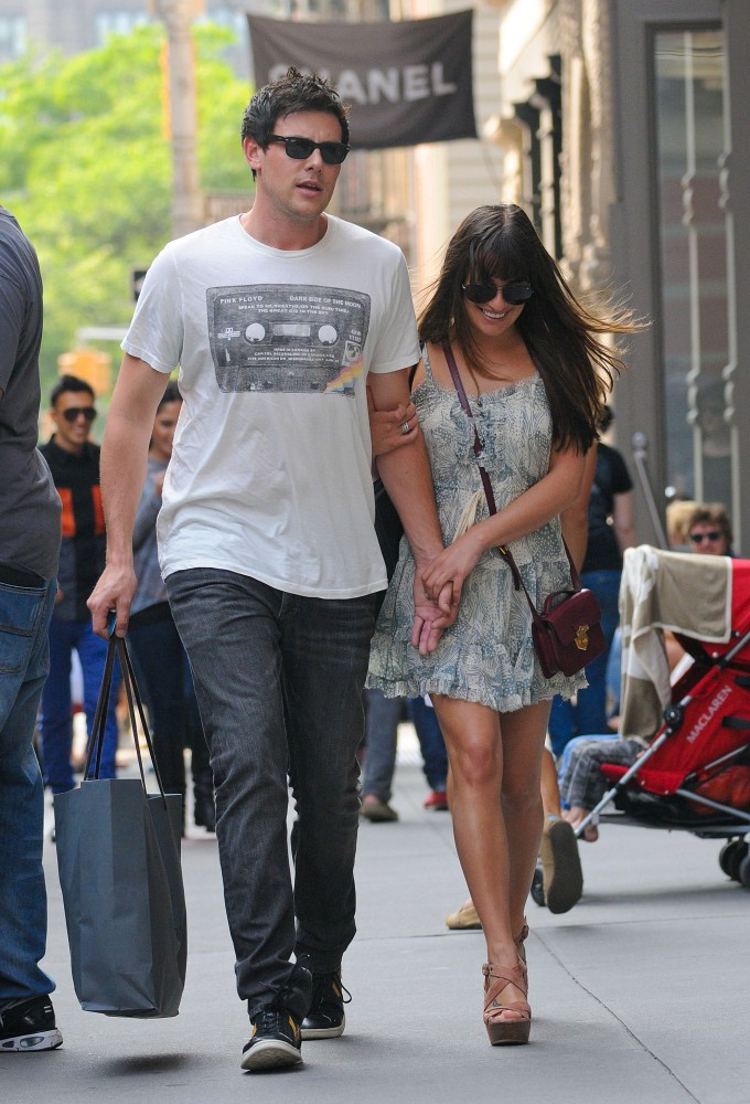 Lea and Cory Hold Hands During a Big Apple Shopping Spree