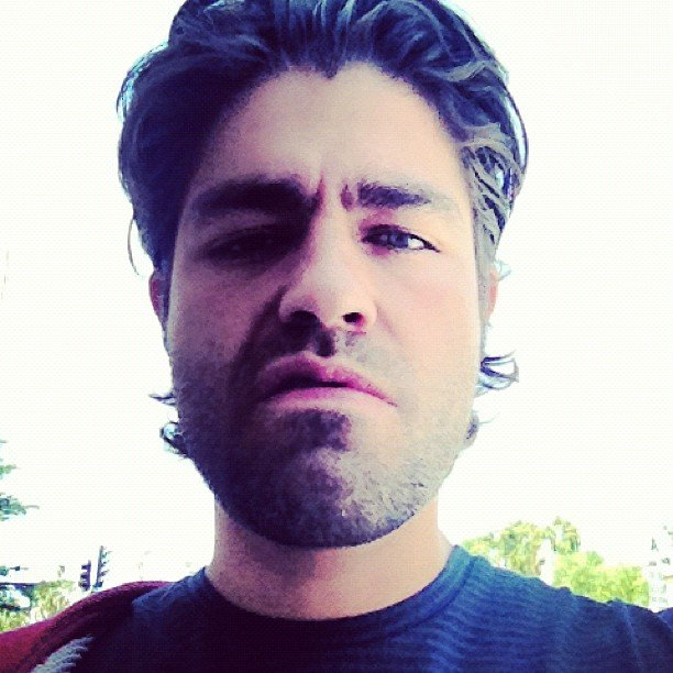Adrian Grenier gave a sneer to the camera.  Source: Instagram user adriangrenier