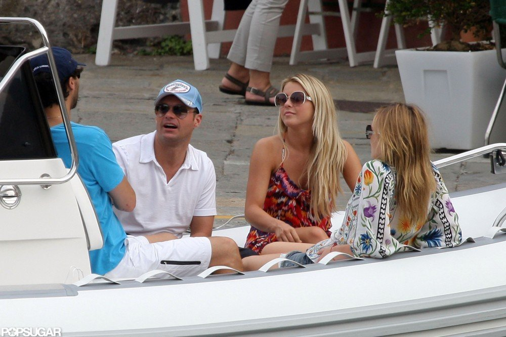 Ryan Seacrest and Julianne Hough shared a loving getaway to Italy in July 2010.