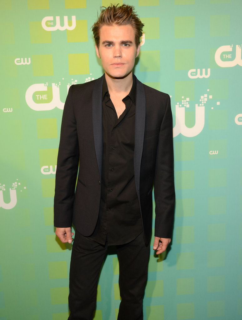 Paul Wesley looked hot in a black suit.