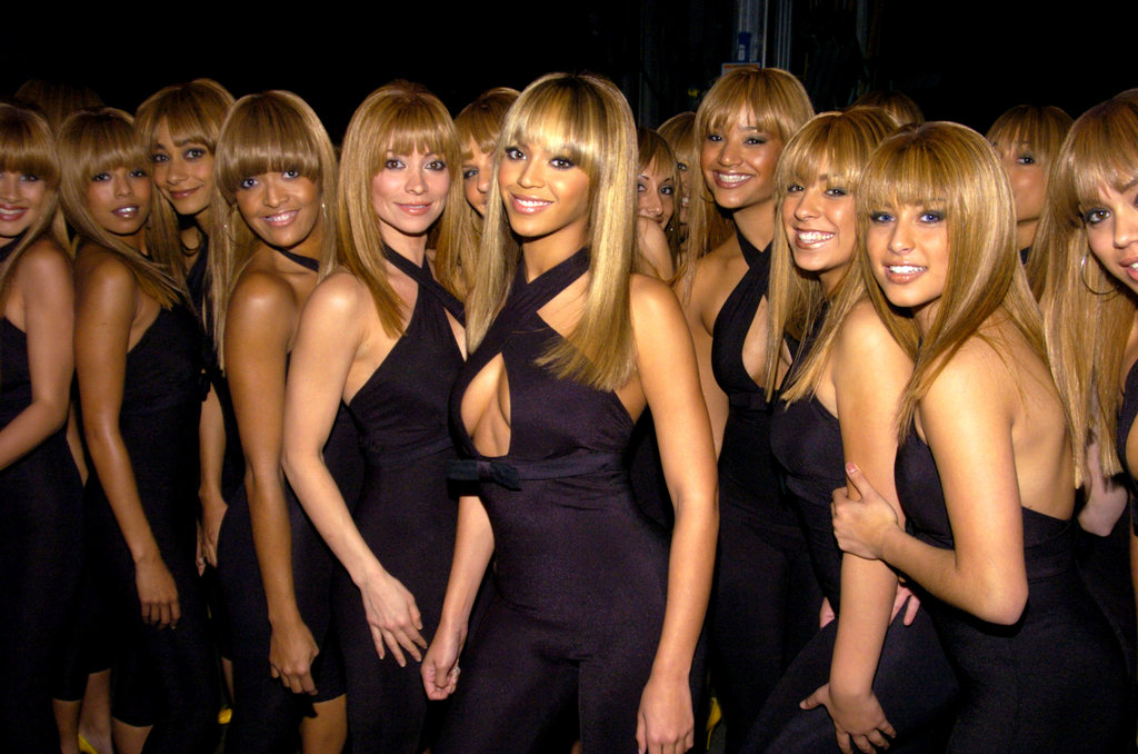 Beyoncé was surrounded by look-a-likes for a 2003 performance.