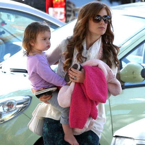 Isla Fisher and Daughters Pictures at French Park