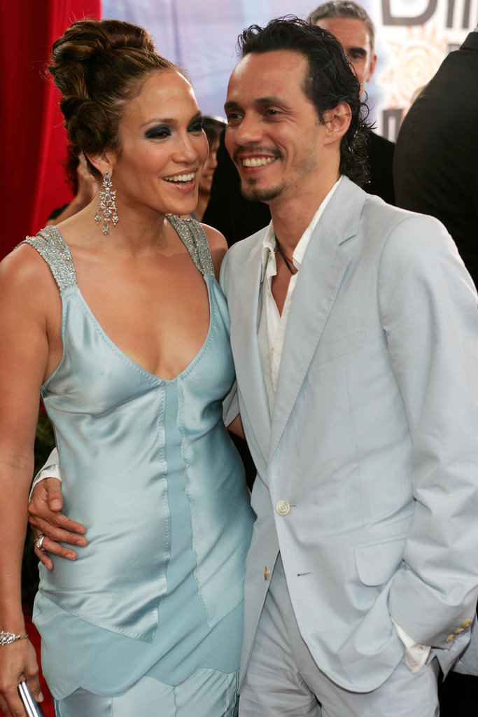 Jennifer Lopez and Marc Anthony walked the carpet together in 2005.