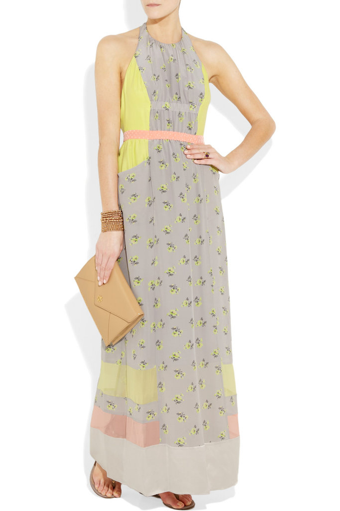 We love the sophisticated feel of this patchwork-meets-floral maxi. It's not quite an homage to Little House on the Prairie, but it certainly evokes a sweet, nostalgic vibe. Rebecca Taylor Patchwork Silk Halterneck Dress ($425)