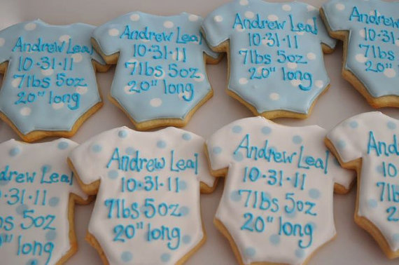 Tiffany's Sweet Spot Birth Announcement Cookies ($36/dozen)