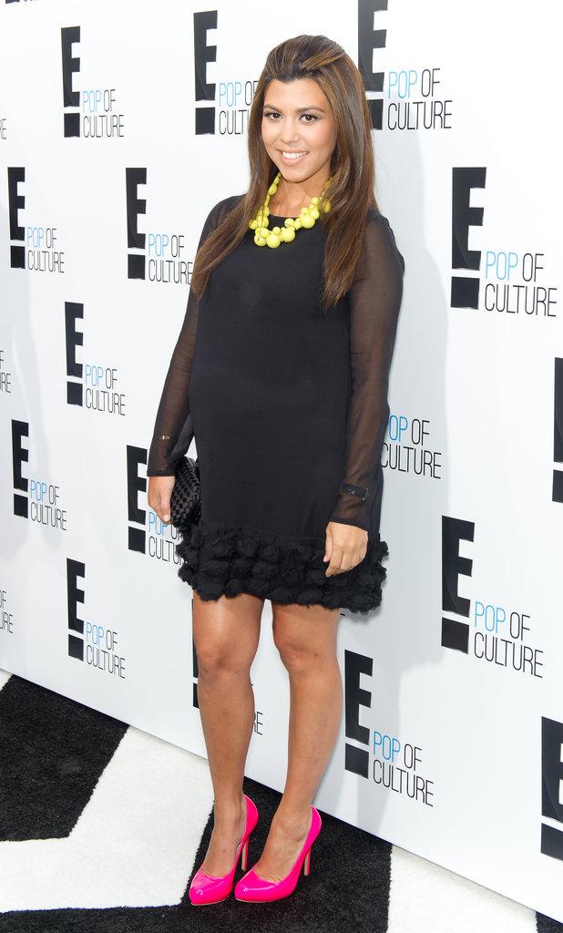Kourtney Kardashian's Pop of Color