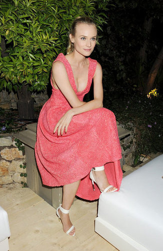 We love how gorgeous this coral pink hue is on Diane Kruger, seen here at the Calvin Klein Women in Film party.