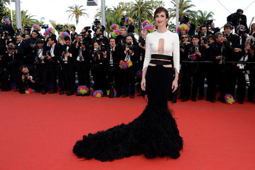 Paz Vega made a dramatic entrance in a black-and-white Stéphane Rolland creation at the Madagascar 3 premiere.