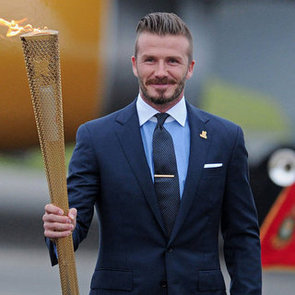 David Beckham Brings The Olympic Flame From Athens, Greece, To England