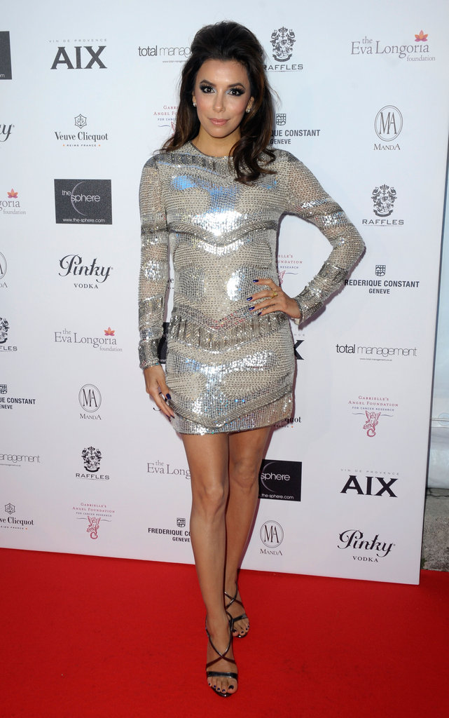 Eva Longoria glowed on the red carpet while she co-hosted her Charity Cocktail Evening.