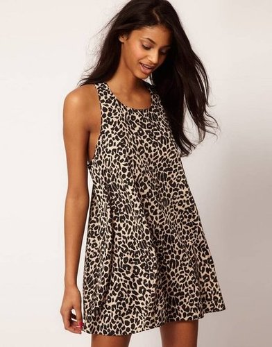 Embrace the season's '90s nostalgia with this dress's wild print and swing shape.  Asos Animal-Print Swing Dress ($49)