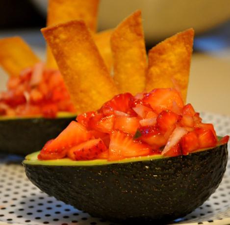 Avocado With Strawberry Salsa