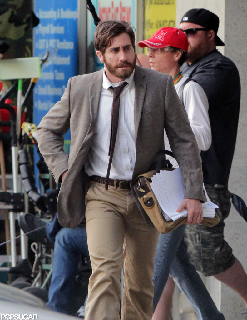 Jake Gyllenhaal was on set in Canada.