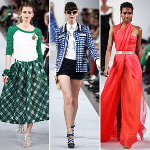 Pictures and Review of Oscar de la Renta's Resort 2013 Runway Collection: Gingham, Baseball Tees + Gowns Galore!