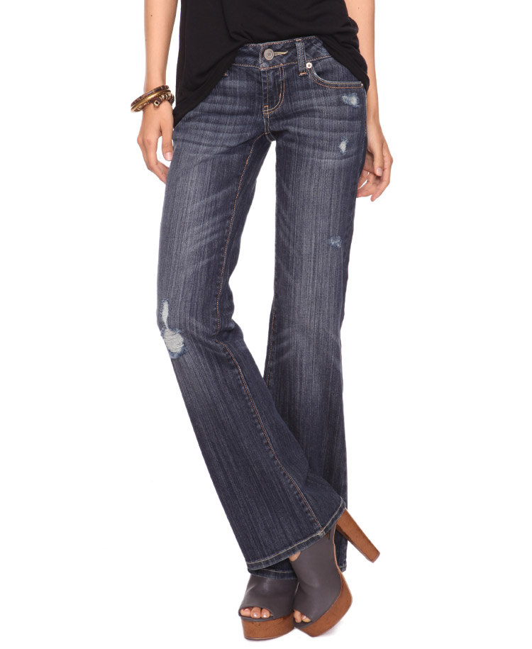 Forever 21 Premium Denim Distressed Jean ($25)