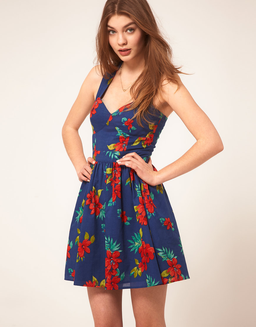 The sunniest of sundresses — the tropical florals and ...