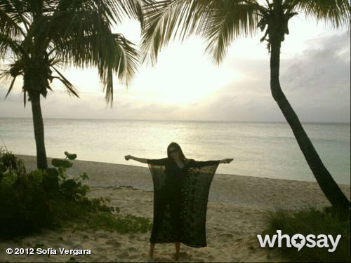 Sofia Vergara took a relaxing to trip to Anguilla.  Source: Sofia Vergara on WhoSay