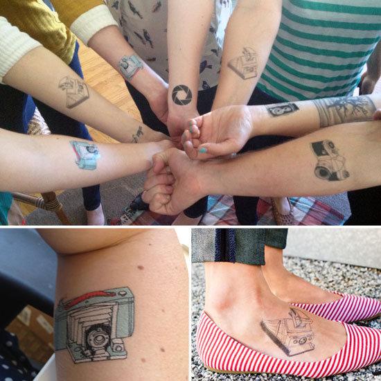 Temporary Camera Tattoos