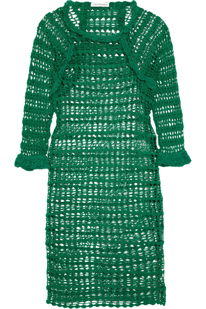 For never-ending cool-girl appeal, look no further than Isabel Marant — we recommend accessorizing this emerald green crochet dress with a pile of colorful mixed-media bracelets.  Étoile Isabel Marant Calice Crochet Dress ($495)