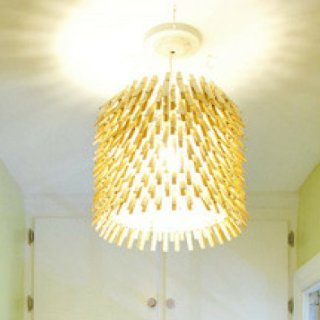 Clothespin Chandelier DIY Directions