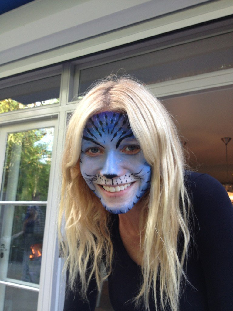 Gwyneth Paltrow sported an impressive face painting in May.  Source: Twitter user iamrashidajones