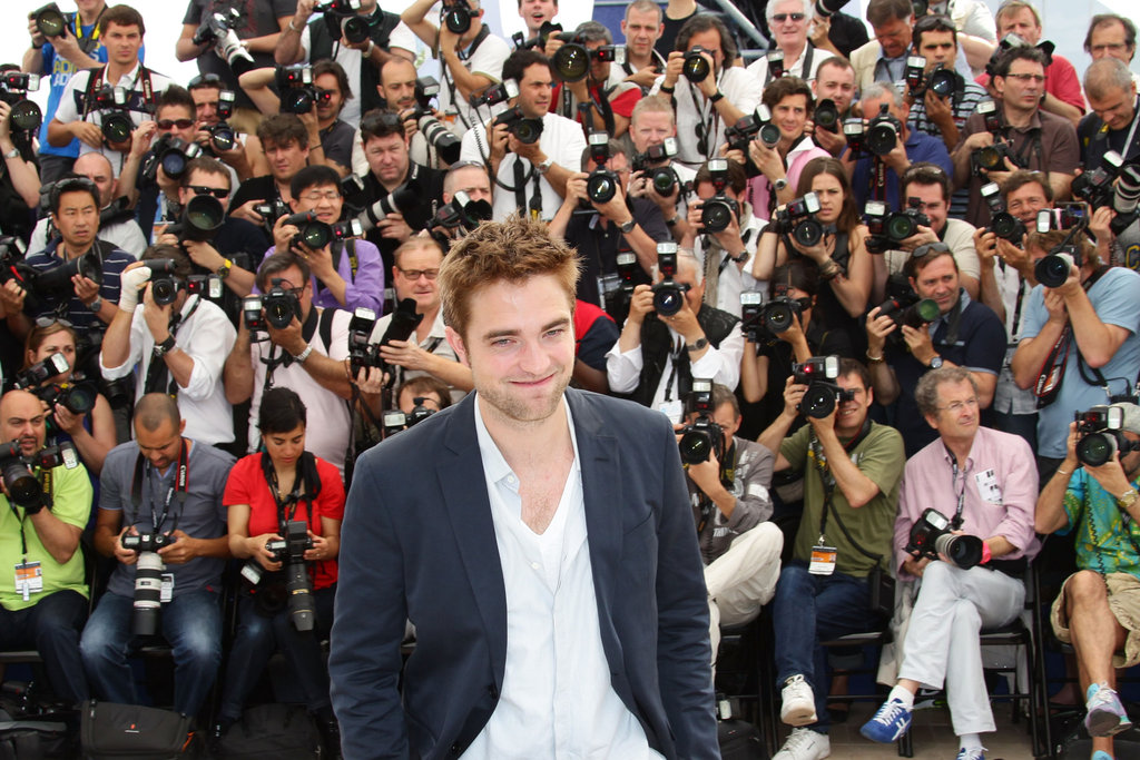 Robert Pattinson had the attention of many photographers at the Cosmopolis photocall in Cannes.
