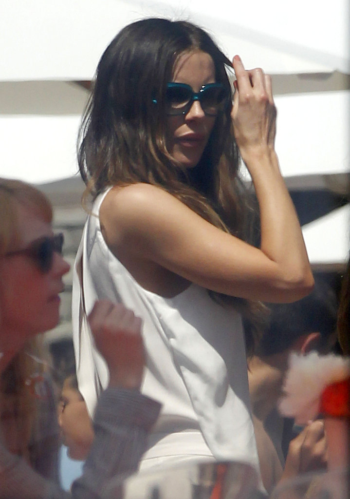 Kate Beckinsale wore sunglasses to Joel Silver's Memorial Day party in LA.