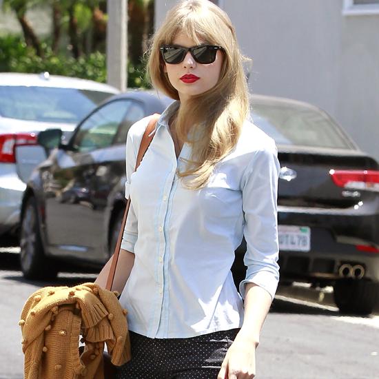 Taylor Swift Wears Polka Dot Pants on Memorial Day