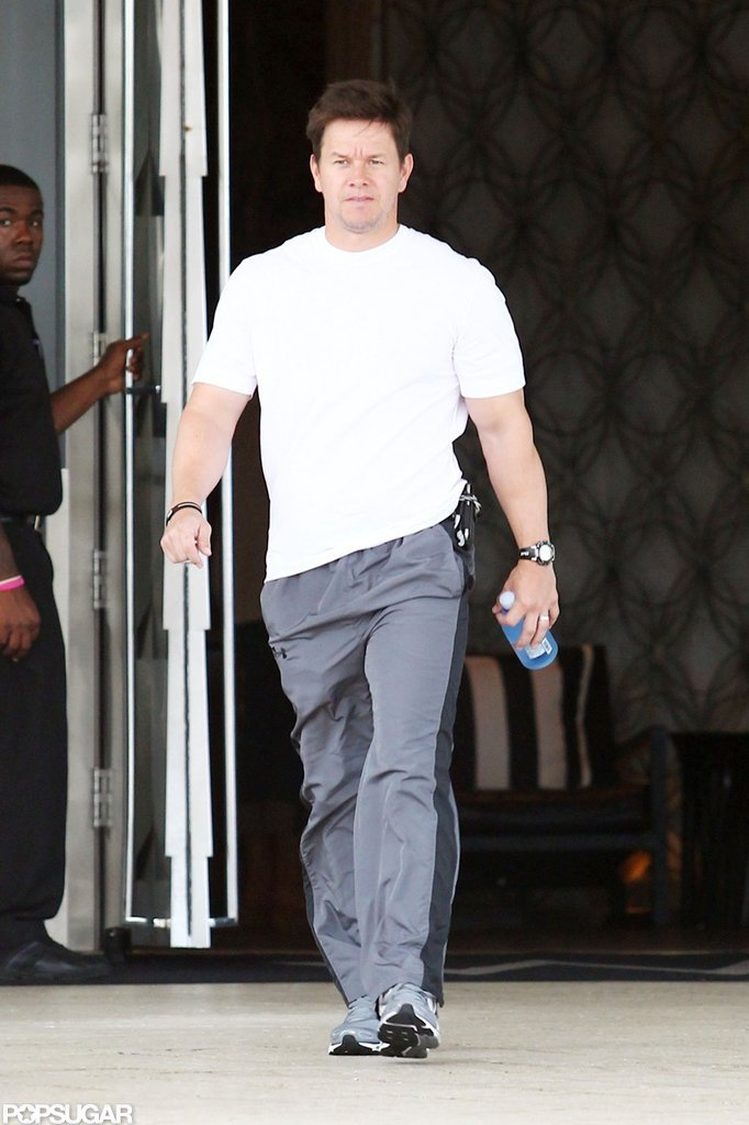 Mark Wahlberg was out for a stroll in Miami.