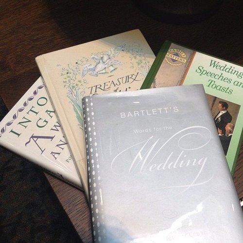 Karlibulnes shared her wedding reads.