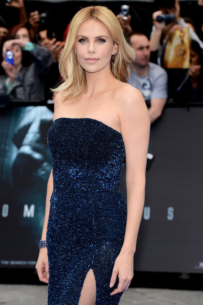 Charlize, Michael, and Guy Premiere Prometheus Overseas