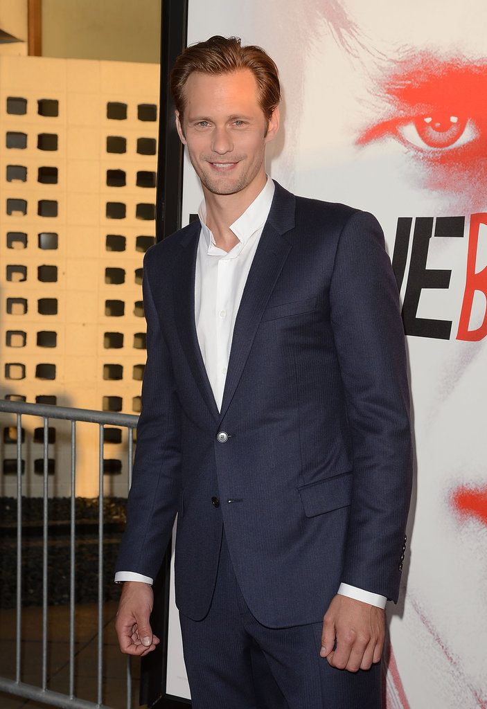 Alexander Skarsgard smiled for the camera at the premiere.
