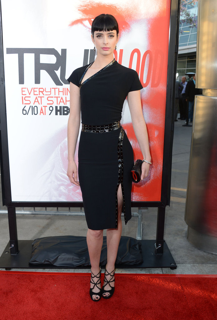 Krysten Ritter paired her dress with some strappy sandals.