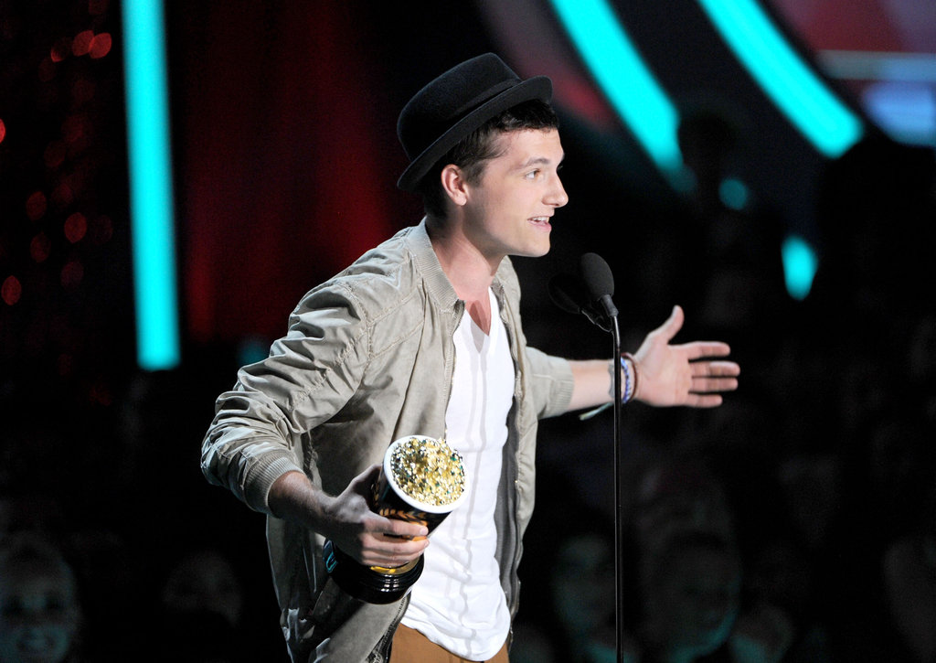 Hunger Games star Josh Hutcherson took the stage to thank fans.
