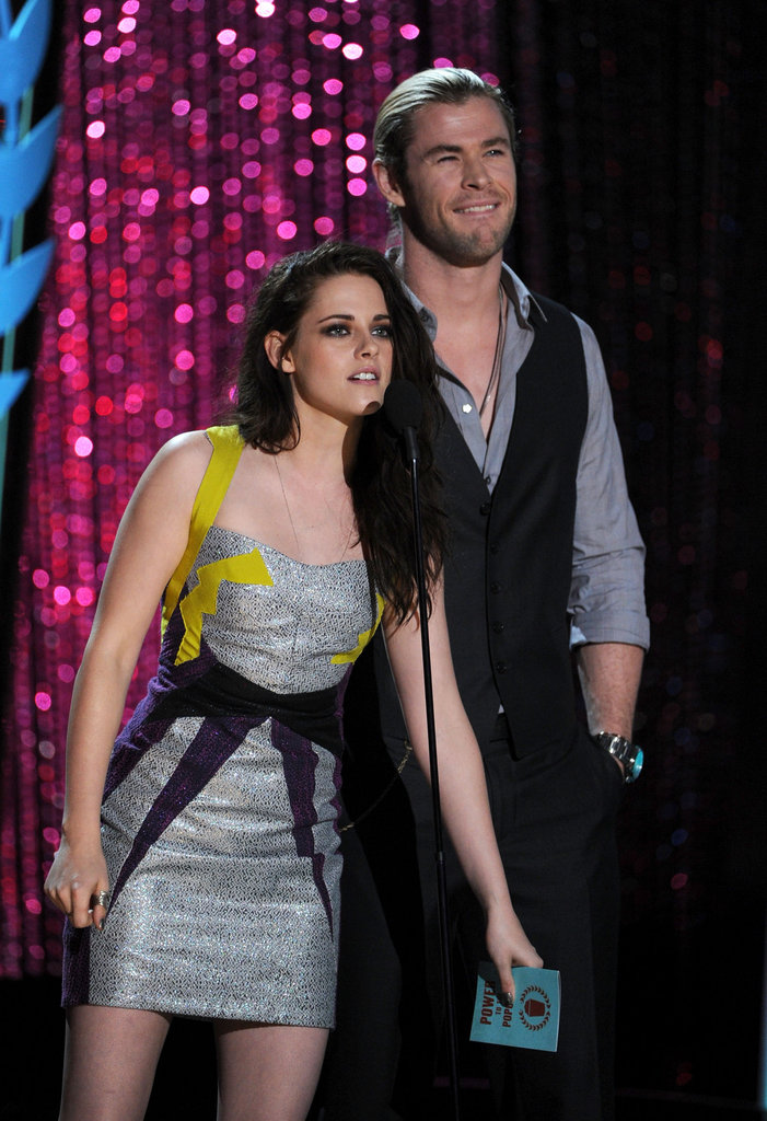 Kristen Stewart and Chris Hemsworth presented the best female category.