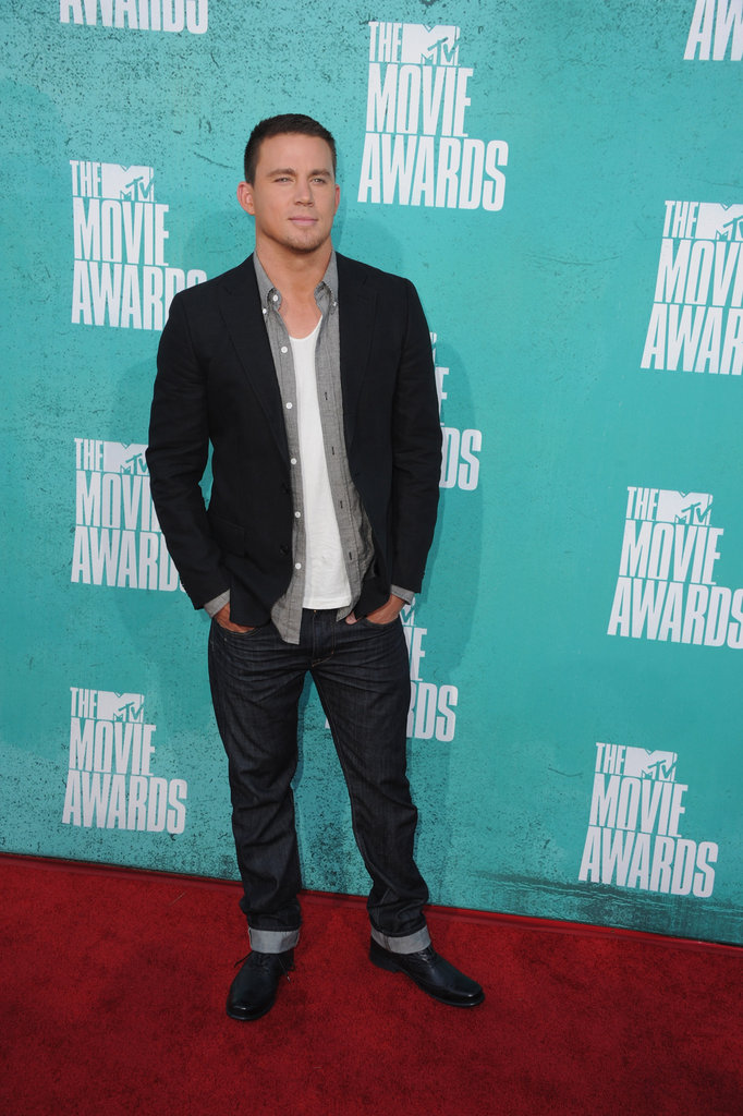 Channing Tatum on the red carpet at the MTV Movie Awards.