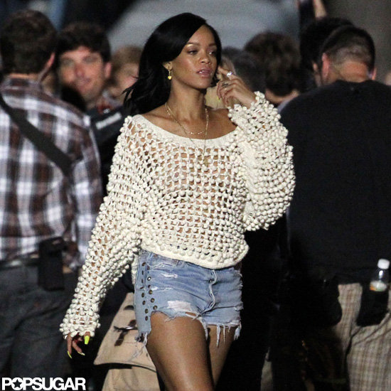 Rihanna was on set of The End of the World in New Orleans.