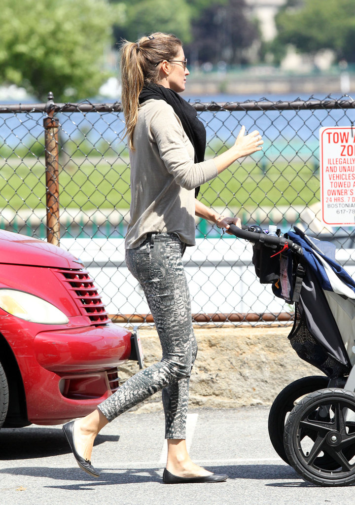 Tom and Gisele Kiss and Kick Off a Busy Weekend at the Park With Ben