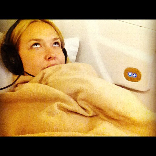 Lara Bingle flew from LA to India. Source: Instagram user mslarabingle