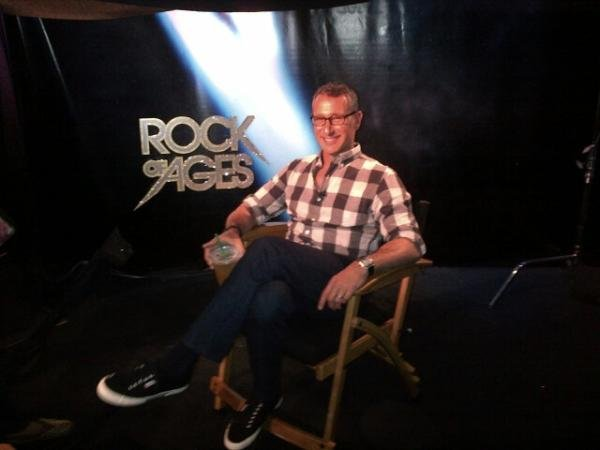 Director Adam Shankman shared photos from the Rock of Ages press junket. Source: Twitter user adamshankman