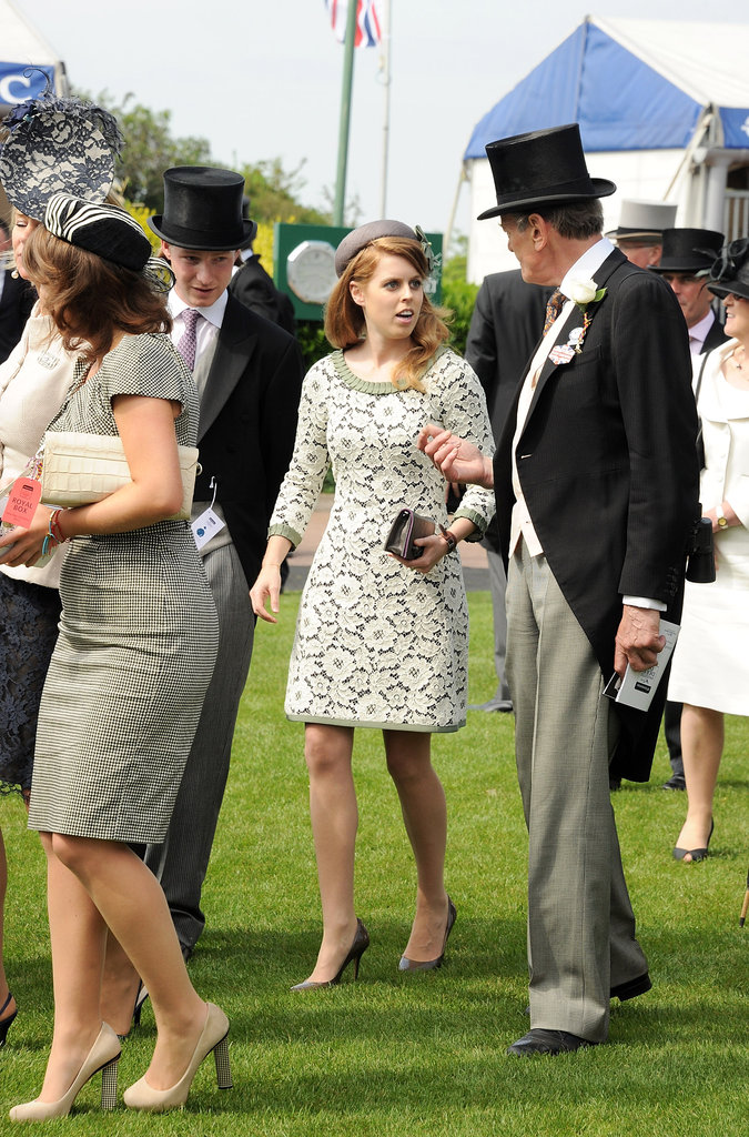 Princess Beatrice walked at the derby.
