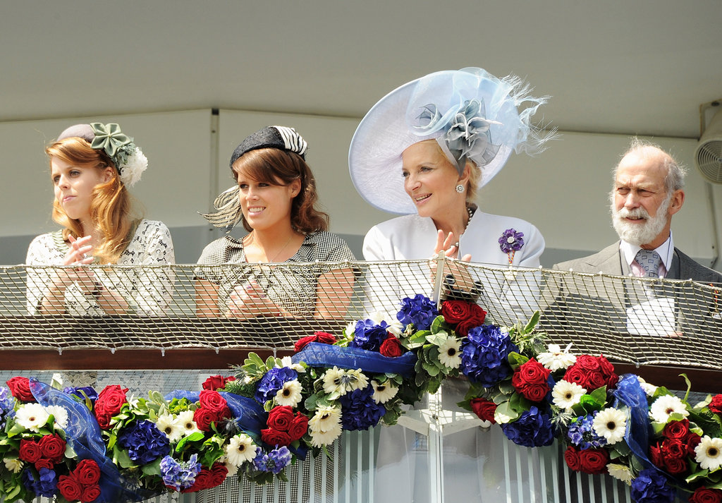 Princess Beatrice of York, Princess Eugenie of York, Princess Michael of Kent, and Prince Michael of Kent made an appearance at the derby.