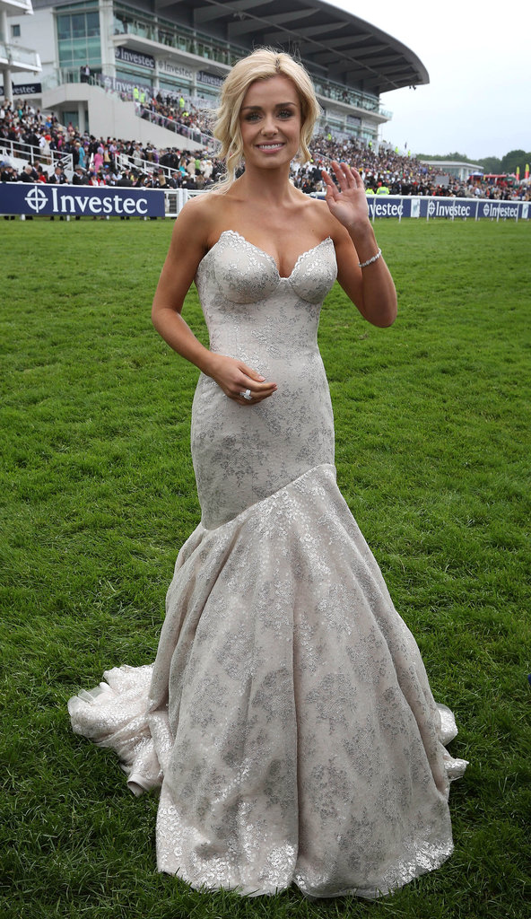 Katherine Jenkins looked glamorous in white.