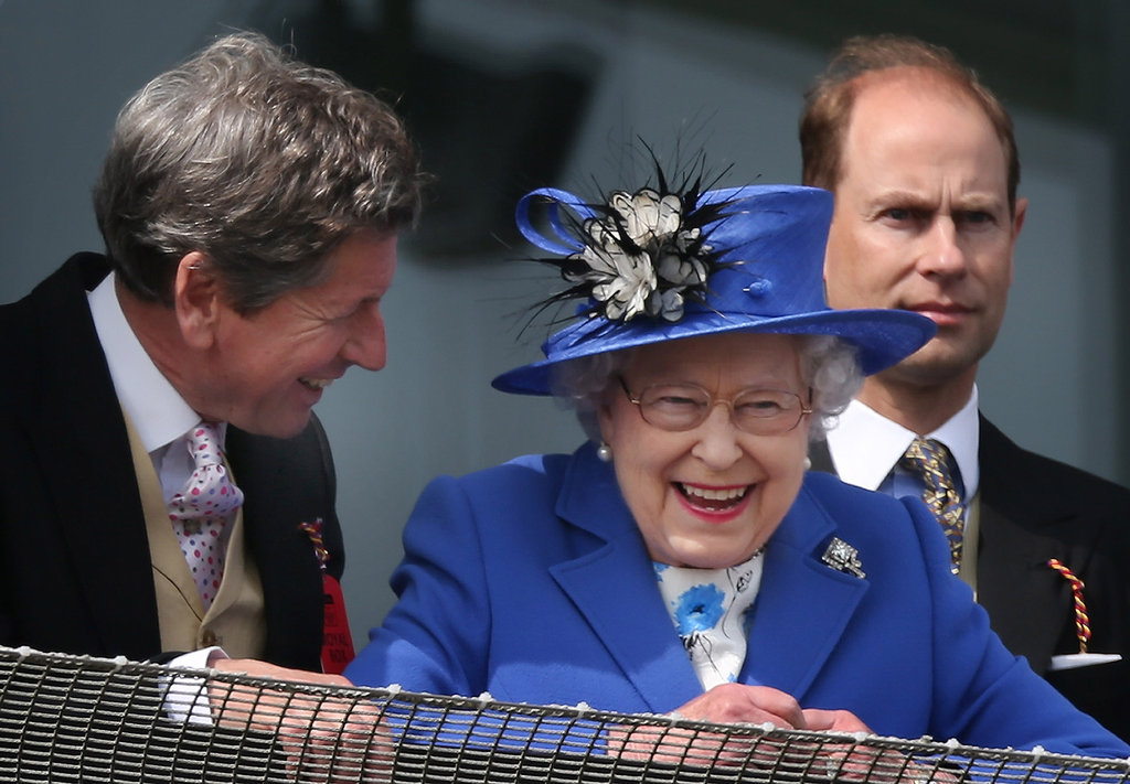 The queen watched the derby.