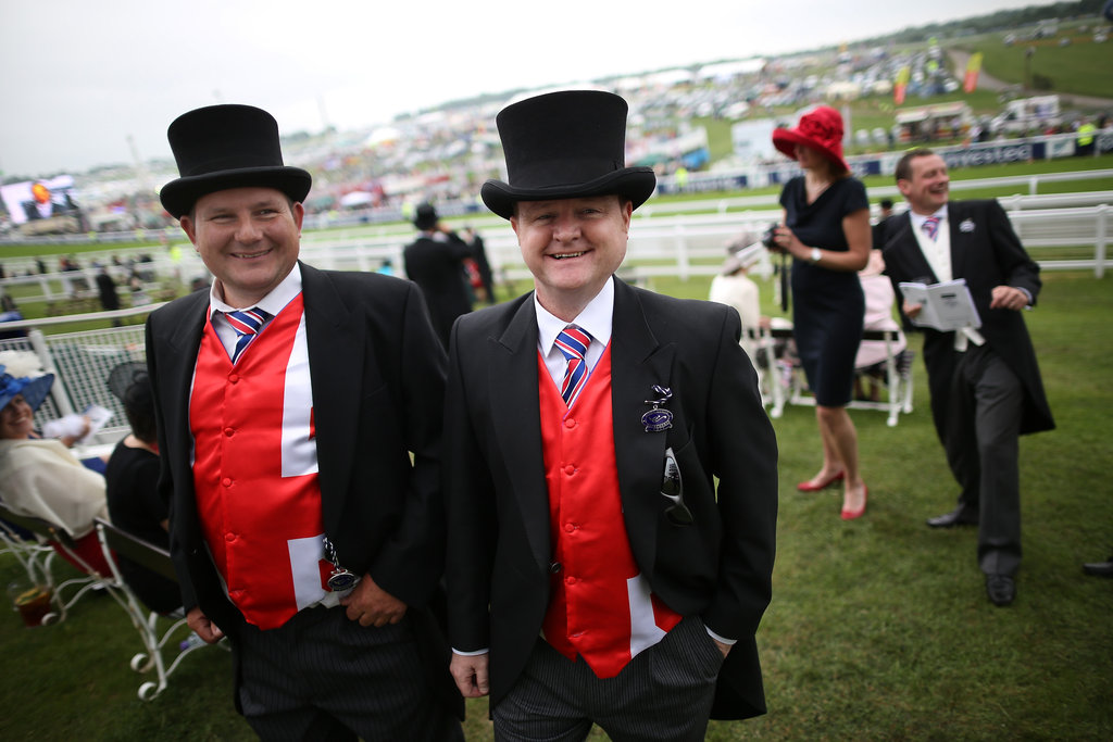 Racegoers wore patriotic colors to the derby.