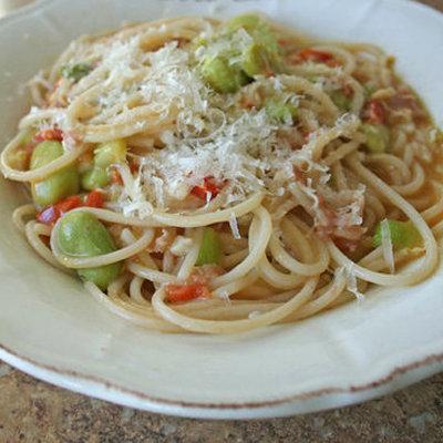 Pancetta and Fava Bean Pasta