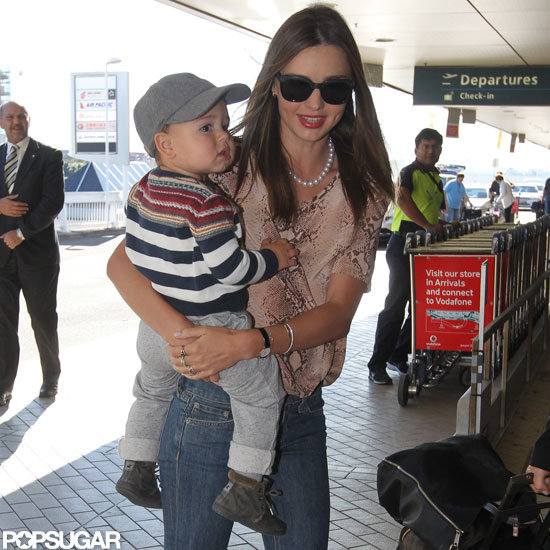 Miranda Kerr carried son, Flynn Bloom.