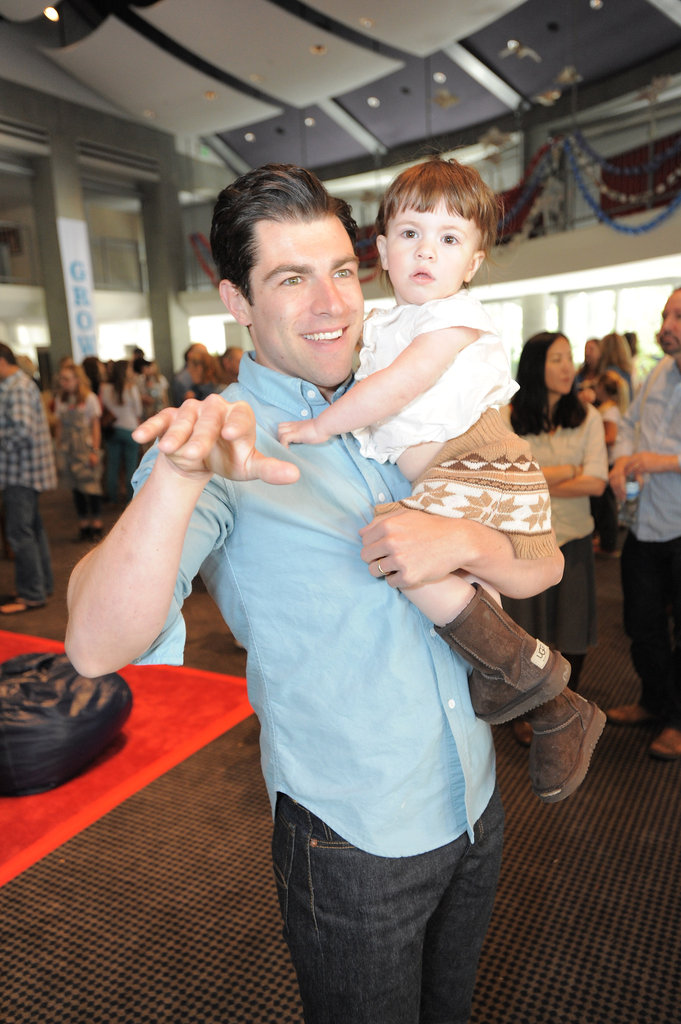New Girl's Max Greenfield took his daughter, Lily, to an April 2012 event in LA.