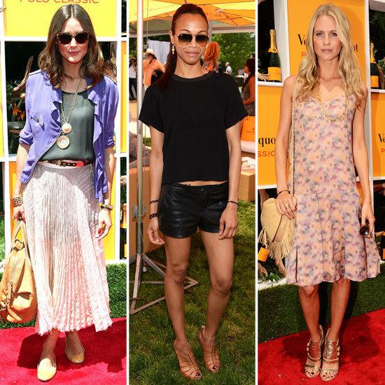 Celebrity Dresses at Veuve Clicquot Polo Classic 2012