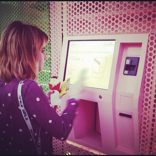 Emma Roberts made a trip to the Sprinkles Cupcakes cupcake ATM. Source: Instagram user emmaroberts6